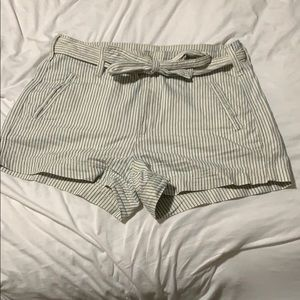Blue and white stripped American Eagle shorts